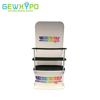 Exhibition Booth Tension Fabric Backwall Display Rack With Advertising Banner Printing,Premium Trade Show Promotional Table