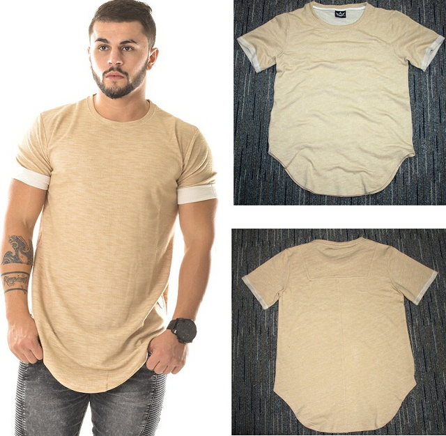 78da5d55 Newest Fashion Men Plain T-shirt Street Wear Hip Hop Swag Long Oversized  Extended Skate Hip Hop T-shirt