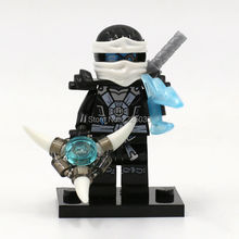 Ninjagoes Anime Zane minifigures building blocks bricks toys for children gift brinquedos compatible with legoe pirates