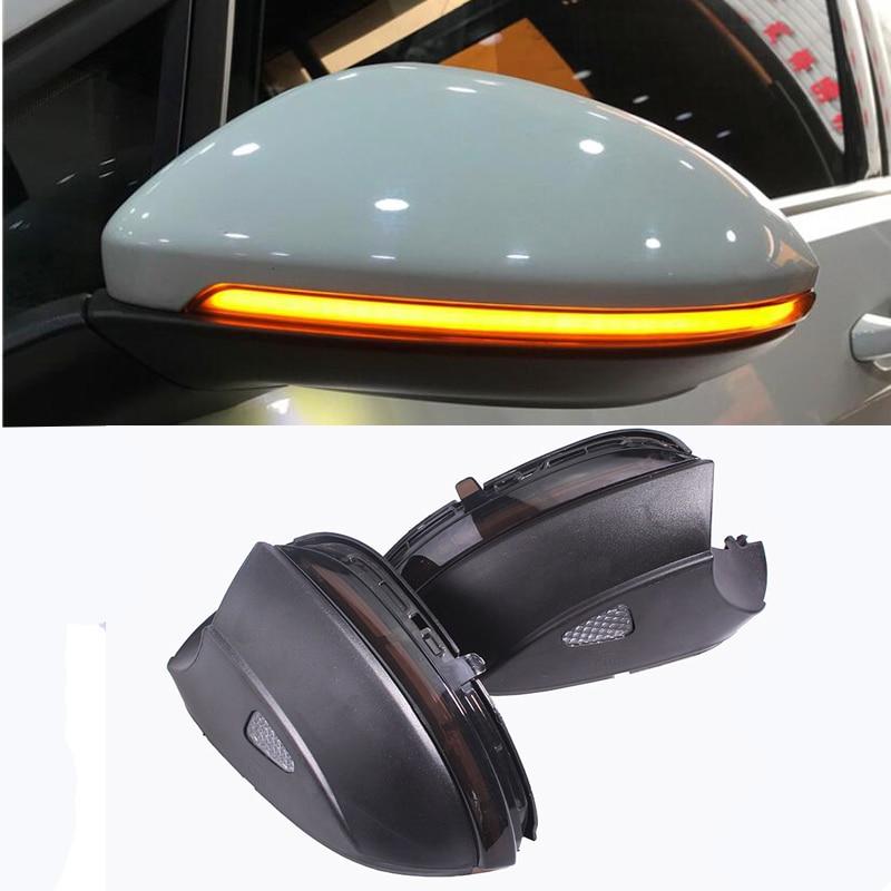 Blink Rear Side Mirror LED Water Flowing Rearview Mirror Turn Signal light For VW Passat B7 CC Jetta MK6 Beetle Scirocco Указатель поворота