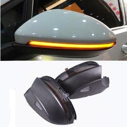 Blink Lato Posteriore Dello Specchio LED di Acqua Che Scorre Retrovisore Specchio Disabilita luce di Segnale Per VW Passat B7 CC Jetta MK6 Beetle scirocco