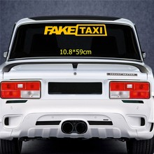 Três ratels TZ-1168 10.8*59cm 1-2 peças etiqueta do carro falso táxi adesivos auto decalques removível
