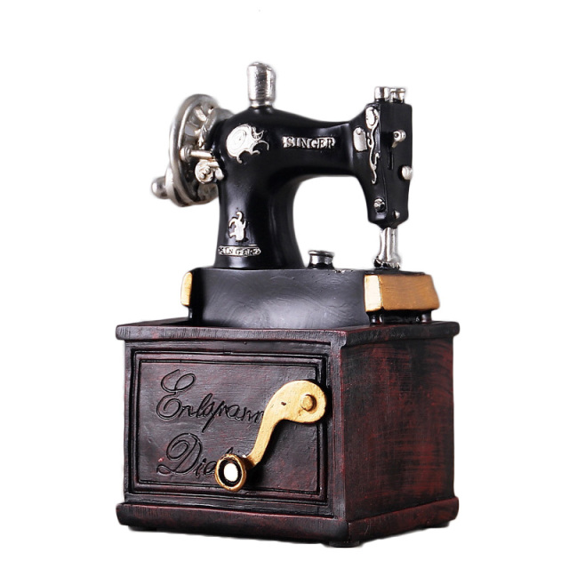 Retro Sewing Machine Figurine and Pen Holder