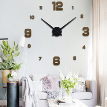 New Size  New Black Color Large Digitial Circular Wall Clocks Exquisite Gift European Style Free Shipping Modern Wall Clocks e coeus mirror diy large digitial 3d big beautiful wall clocks home decor living room new black mute exquisite color wall clocks