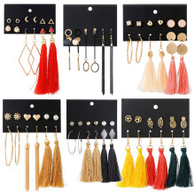Missita New Design Tassel Drop Earrings Set For Women Girl 2019 Bohemian Gold Heart Long Earring Female Fashion Wedding Jewelry(China)