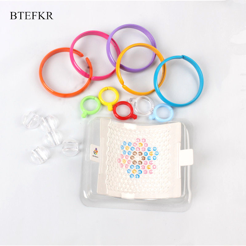 3D Puzzle Beads Educational Toys For Children Speelgoed Water Spray Beads Jigsaw Puzzle Accessories Ring Wave Bead Chain