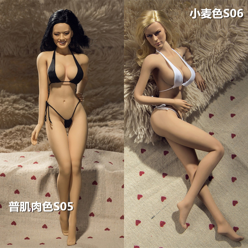 1/6 Doll PLLB2014-S05 PLLB2014-S06 Female Body Big Bust Size in Tan/Suntan Color 12 Action Figure Doll