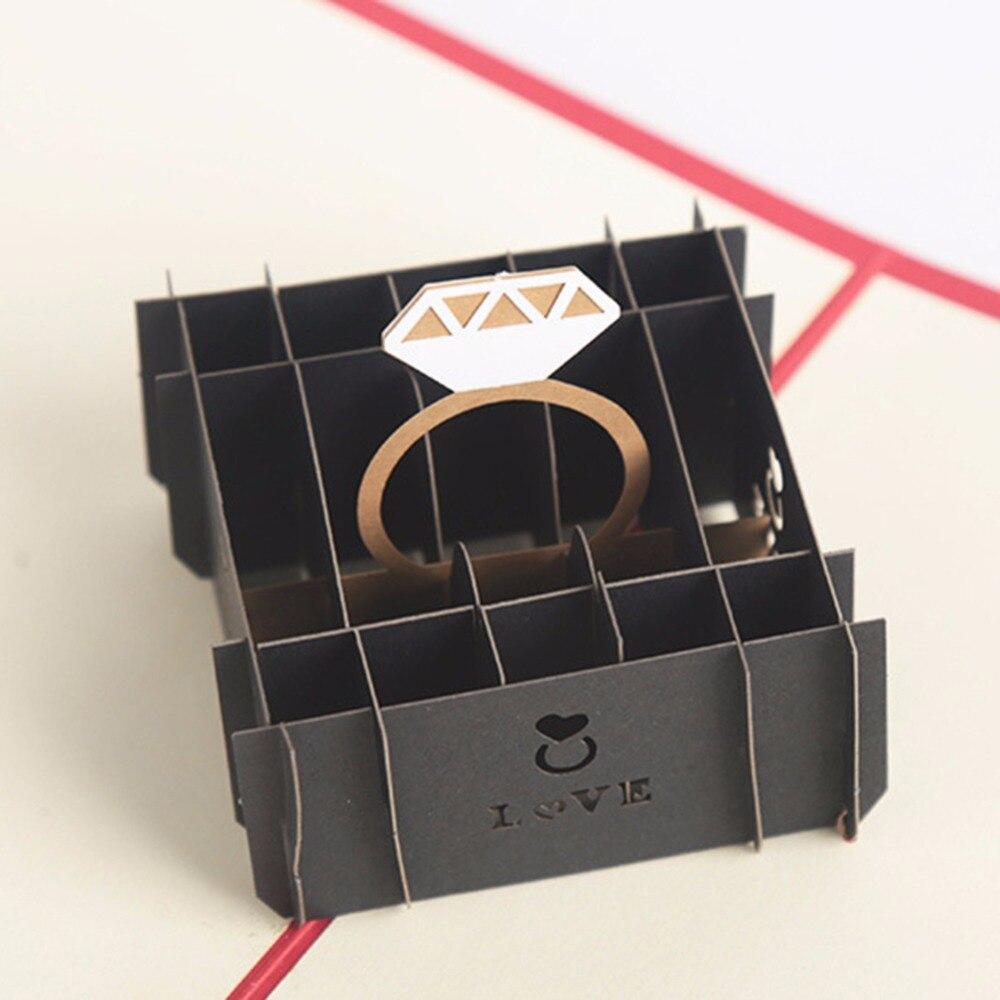 Gift Box Wedding Invitations: New 2018 Valentine's Day Ring Gift Box Wedding Invitations