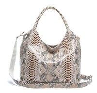 Bolsa Feminina крокодиловая кожа змеи Для женщин Сумки сумки на плечо топ ручка сумка дизайнерский бренд высокое качество дамы сумка