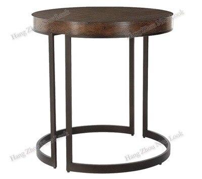 Americana rural retro hierro madera maciza muebles de oficina mesa ...