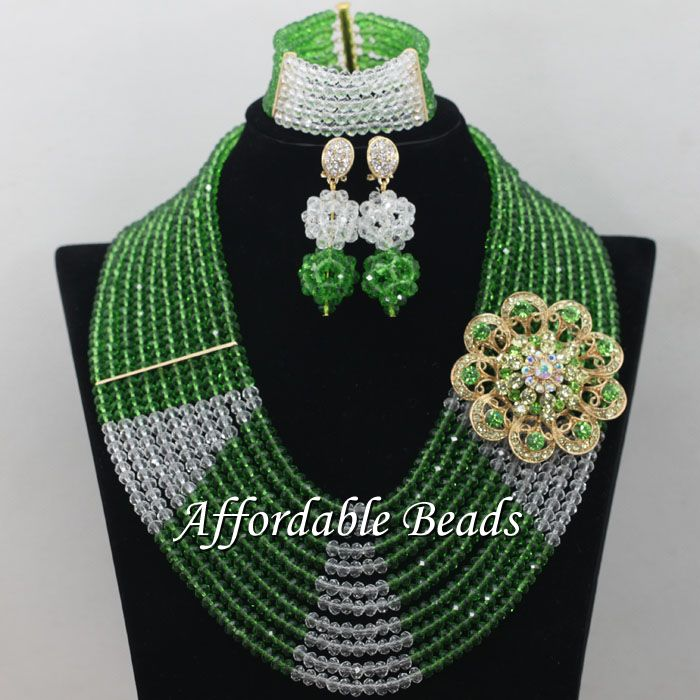 White Grass Green African Beaded Jewelry Charming Jewelry Set Handmade Item Wholesale Free Shipping ABE154 скейт мини круизер turbo fb stawberry grass red green white 22 55 9 см
