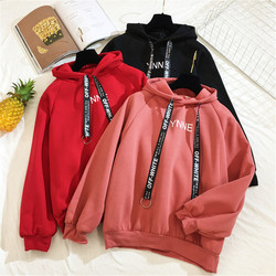 Arfreeker Casual Hoodies Women  Brand Long Sleeve Thick Warm Hooded Black Sweatshirt Hoodie Coat Casual Sportswear Pullovers 1