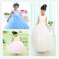 Retail 2013 New Arrival High Quality Girls Summer Dresses Girls Linearaffae Tulle Dress Children Christmas Party