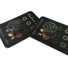 5 шт. в партии moori качественные наконечники для кия 14 мм 9 слоев коричневого цвета M с черным кружком в акции