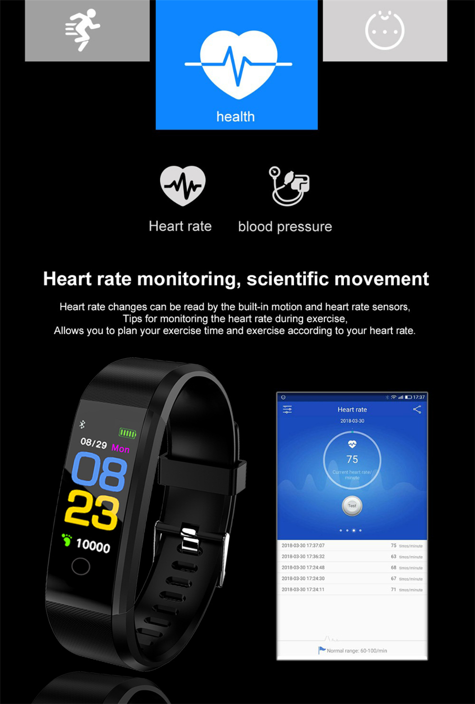HTB1H72gE1uSBuNjSsziq6zq8pXaY LIGE New Smart Watch Men Women Heart Rate Monitor Blood Pressure Fitness Tracker Smartwatch Sport Smart Bracelet for ios android