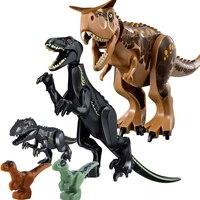 5Pcs Jurassic World 2 Carnotaurus Indoraptor Baby Blue Velociraptor T Rex Dinosaur Building Blocks Kids Bricks DIY Toy Gift