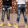 2016 новый forSpring осень прилив маленький монстр брюки взрыв пункт мальчик джинсы детские брюки Большой размер горячей продажи