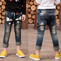2016 new forSpring autumn tide small monster trousers burst paragraph boy jeans children's trousers  Large size hot sale