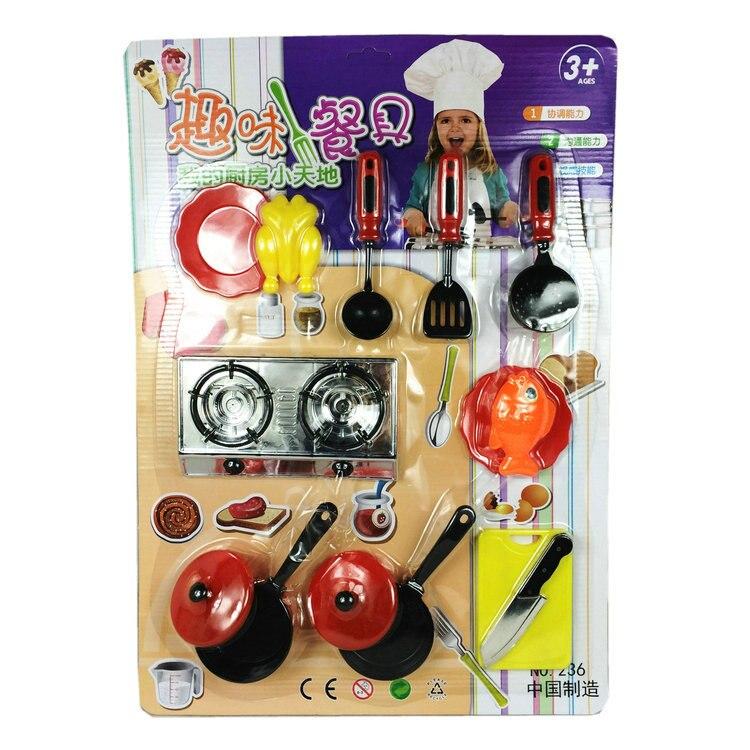 Angemessen Kinder Baby Kunststoff Küche Toys Kochen Werkzeuge Play Bildung Küche Zubehör Toys Für Kinder Kochtopf Pan W258