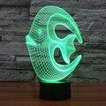 3d ilusión botón táctil led rgb luz de la lámpara de mesa de noche novelty nightlight niños/niños dormitorio regalo de navidad