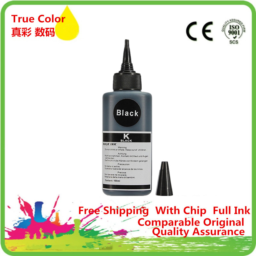 US $5 46 29% OFF|Universal Dye Ink For HP inkjet printers 100ML Premium Dye  Ink General HP 56 21 901 301 printer ink all models-in Ink Refill Kits
