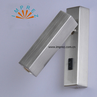 New Arrival 3W Led Wall Light Mental Headboard Spotlight Wall Mounted With Switch On Off