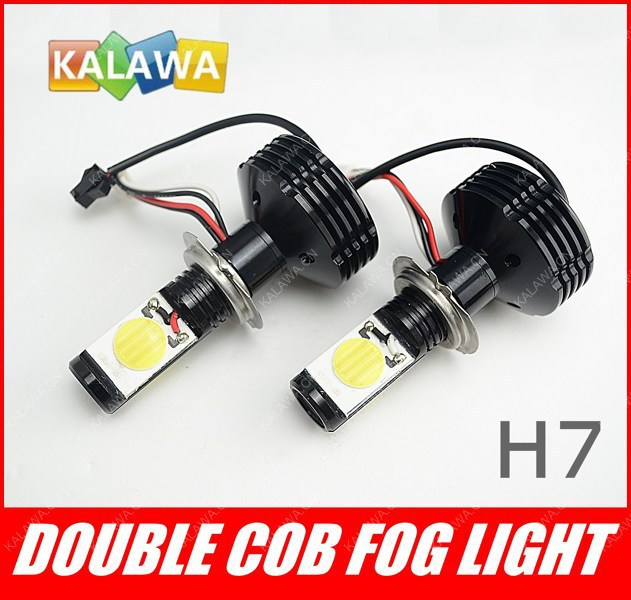 one pair H7 42W CANBUS Led headlight Fog lamp 3600LM 6000K No Error Car high beam light+Cool Fan FREESHIPPING GGG one pair car led interior lamp luggage compartment light case for audi vw skoda seat k 030901 freeshipping ggg