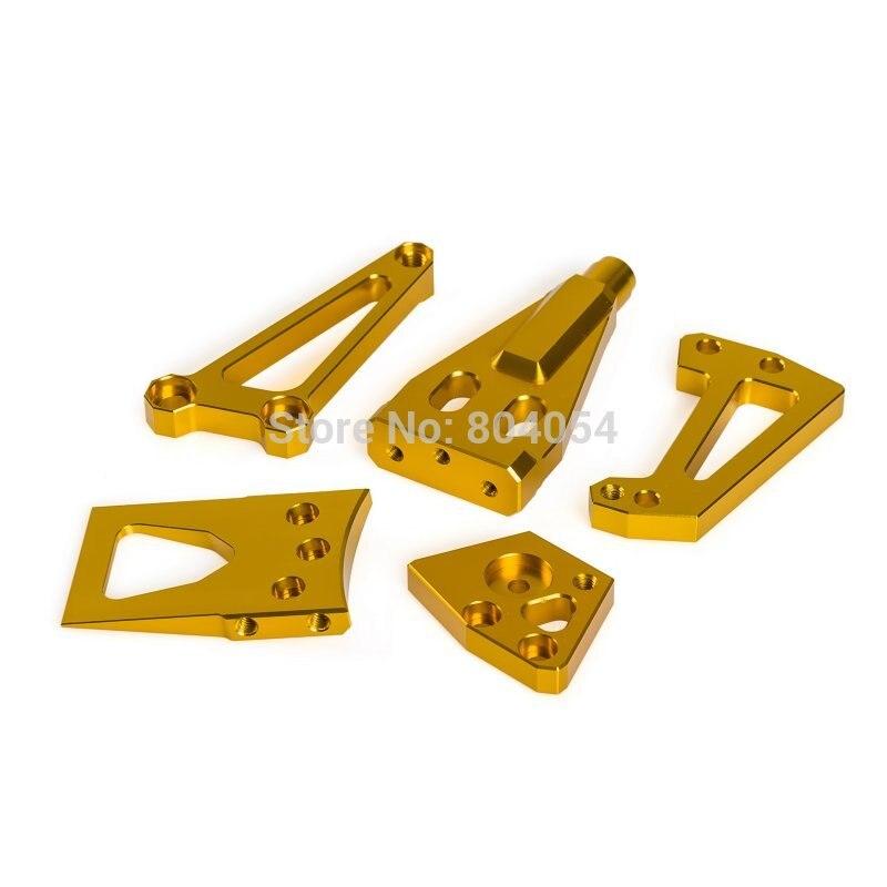 New 1 Set Steering Damper Mounting Kit For Kawasaki Ninja650R ER-6N ER-6F 09-11 ER-4N ER-4F 11-14 Gold Supplies