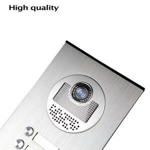 Image 4 - Wired Home 7 zoll TFT Farbe Video Intercom Tür Telefon System RFID Kamera Metall 700TVL mit 2/3/ 4 Monitor für Multi Wohnungen