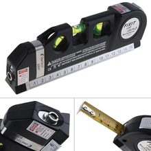 4 in 1 Multipurpose Horizon Vertical Measure Level Laser LV03 Aligner Bubbles Ruler Tool with Tape for Daily Life Measurement em5416 200 high quality multipurpose level with bubble laser horizon vertical measure tape the horizontal ruler