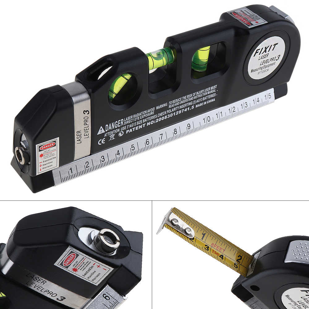 Multipurpose Level Vertical Horizon Measuring Tape Aligner Ruler Measuring Tools