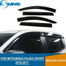 2016-2017 Window Visor For Mitsubishi Pajeo Sport 2017 weather shields Deflectors Guard mitsubishi montero sport 2018 SUNZ