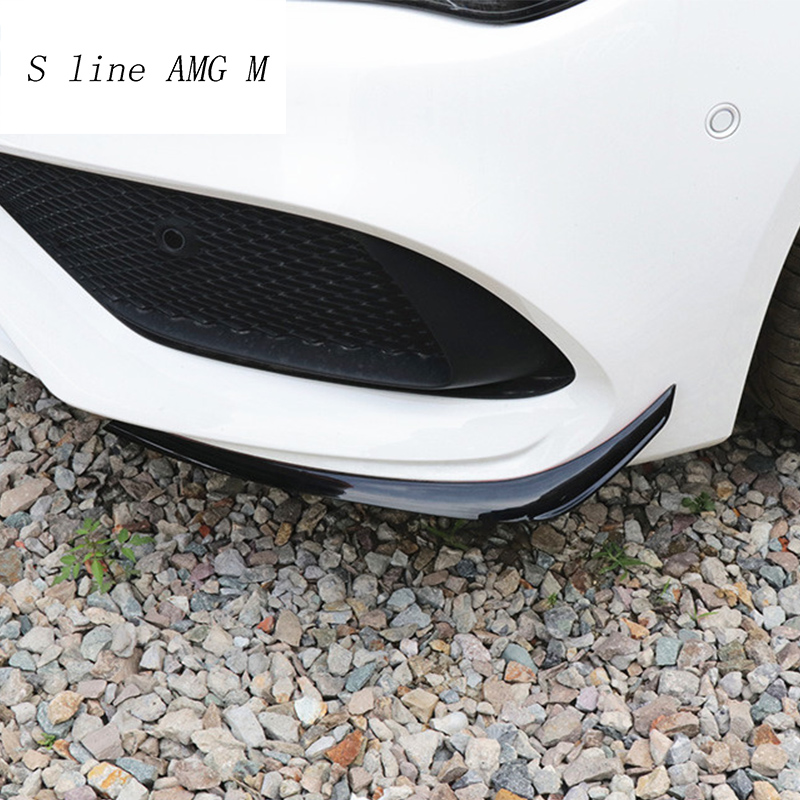 Car Styling Rear Front Bumper Spoiler Air Knife Covers Stickers Trim for Mercedes Benz CLA Class C117 For AMG Auto Accessories for mercedes benz cla class w117 cla180 cla200 cla250 cla45 amg carbon fiber front lip splitter flap canard fits sporty car amg