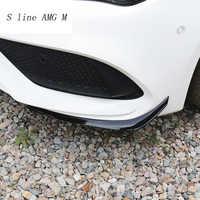 Estilo de coche alerón trasero de parachoques delantero cubiertas de cuchillo de aire pegatinas embellecedor para Mercedes Benz CLA clase C117 para AMG Auto Accesorios