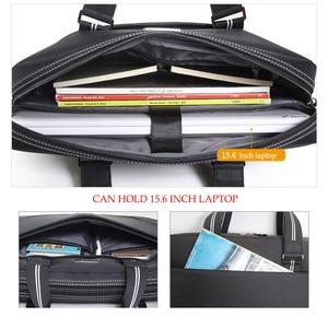 Image 5 - Business Oxford Men Briefcase 15.6 inch Laptop Handbags Mens Office Bags Multifunction Messenger BagComputer Work Bag
