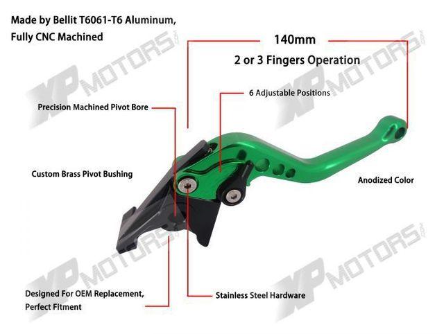 Embrayage levier de frein court pour Yamaha   TDM850 1991-2001 XJ900S Diversion 1995-2002 FZX250 Zeal, nouveauté 1991 1992