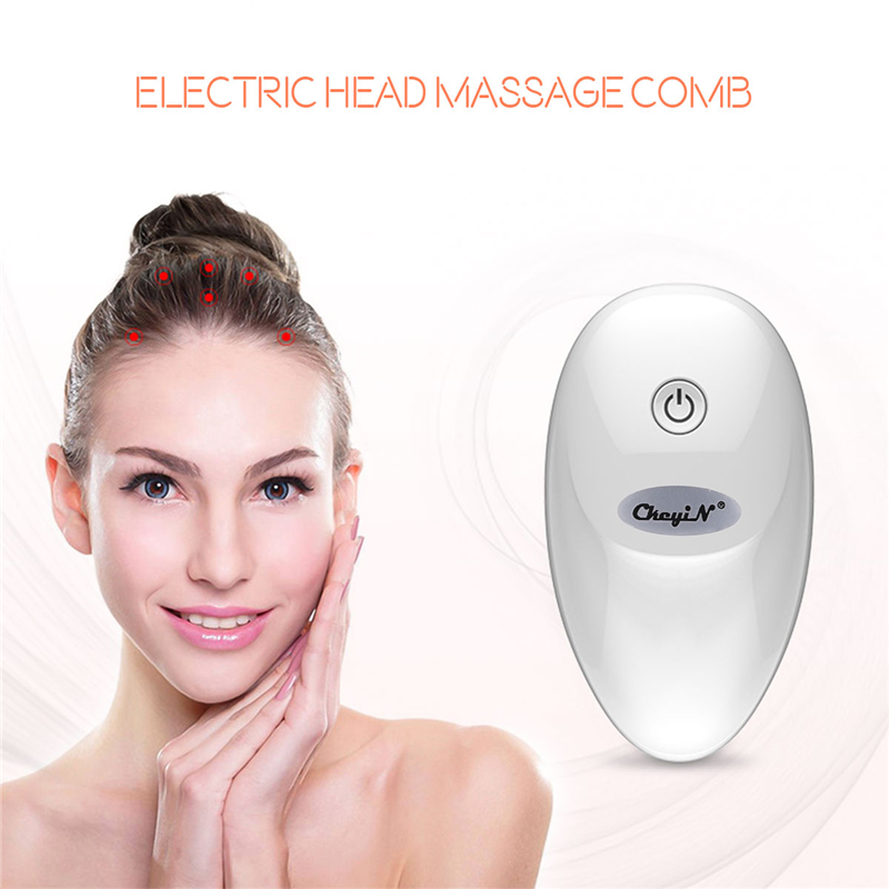 High Frequency Vibration Electric Head Massage Brush Hair Scalp Comb Fatigue Relief Blood Circulation Promotion Hair Loss Reduce