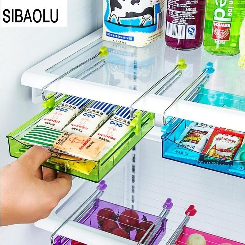 2016 HIgh Quality Refrigerator Fresh Spacer Layer Multi purpose Storage Rack Creative Kitchen Supplies Twitch Type