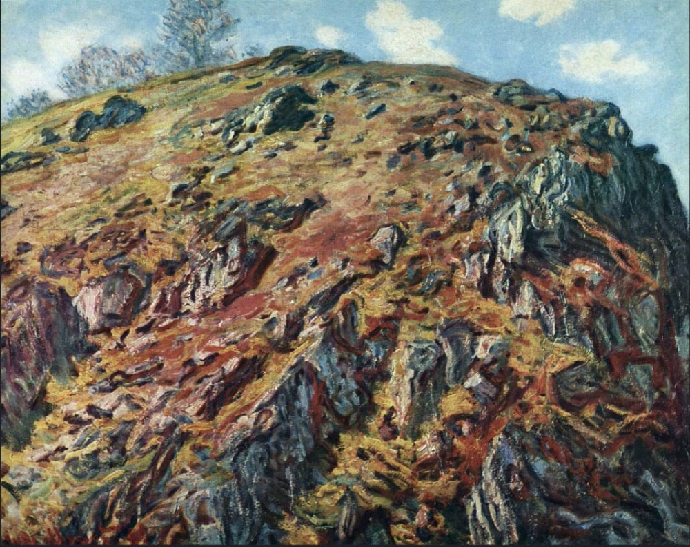 High quality Oil painting Canvas Reproductions Study of Rocks (1889) By Claude Monet Painting hand paintedHigh quality Oil painting Canvas Reproductions Study of Rocks (1889) By Claude Monet Painting hand painted