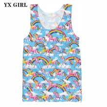 2019 New Cartoon Animal Vest Women Men Summer Thin Tank Tops Dolphin/Leopard/Cat/Horse 3d Printed Vest Sleeveless Tees Unisex