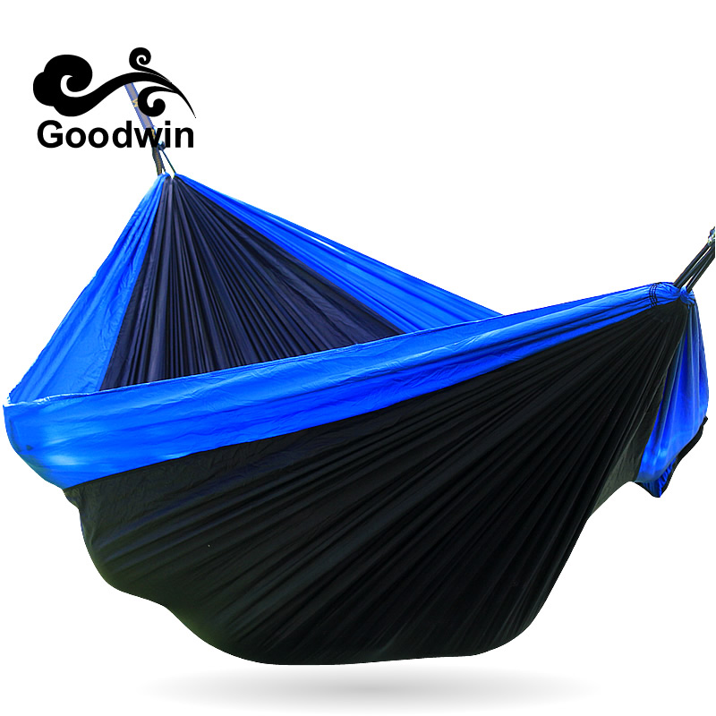 Amazing Potable Nylon Parachute Outdoor Net Bed Portable Double Camping Survival Hammock Outdoor Sleeping wholesale portable nylon parachute double hammock garden outdoor camping travel survival hammock sleeping bed for 2 person