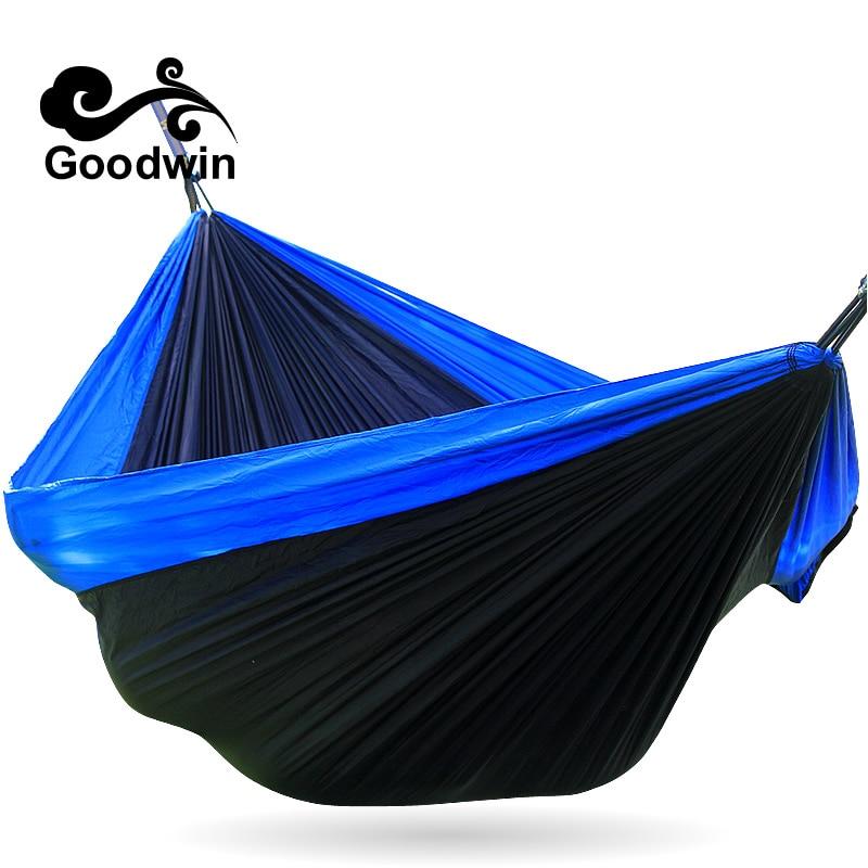 Amazing Potable Nylon Parachute Outdoor Net Bed Portable Double Camping Survival Hammock Outdoor Sleeping