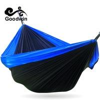 Amazing Potable Nylon Parachute Outdoor Net Bed Portable Double Camping Survival Hammock Outdoor Sleeping Free Shipping