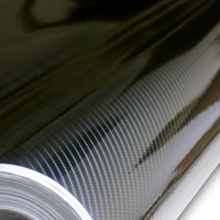 factory Price High Glossy 6D Carbon Fibre Vinyl Wrap Car Wrapping Film Shiny Gloss 6d Carbon Carbon size 5m/10m/20m
