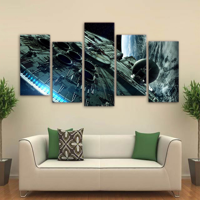 Star Wars Wall Painting – Spaceship