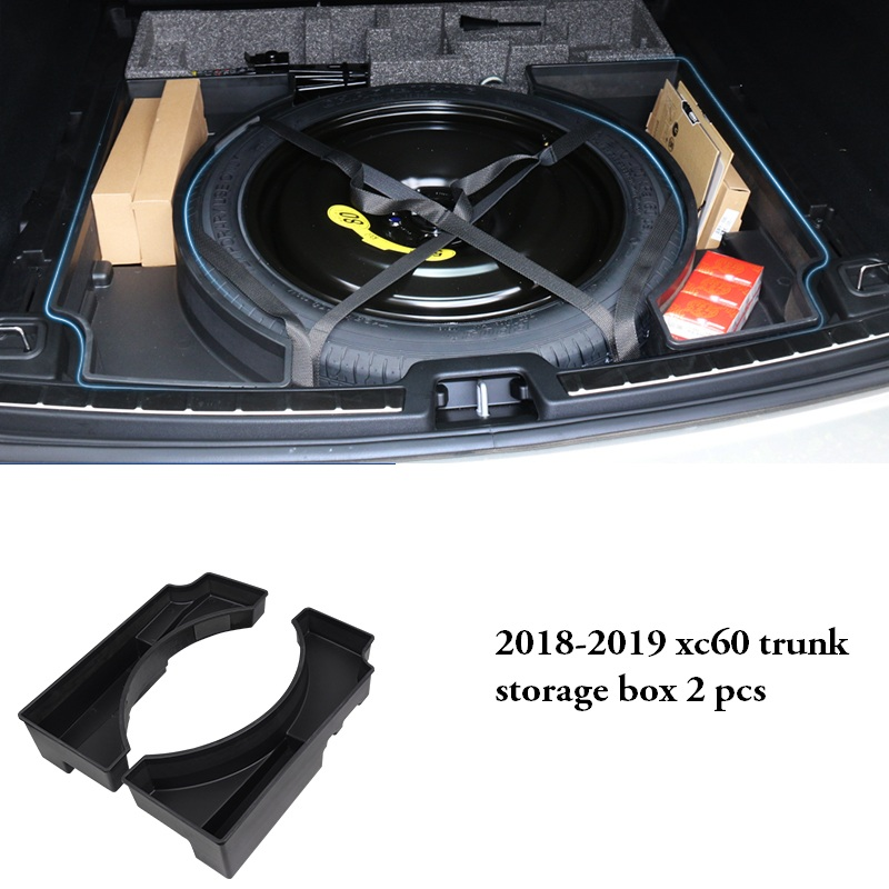 2018-2019 model for Volvo xc60 modified trunk storage box 19 xc60 dedicated tail box compartment storage box коробка для мушек snowbee slit foam compartment waterproof fly box x large
