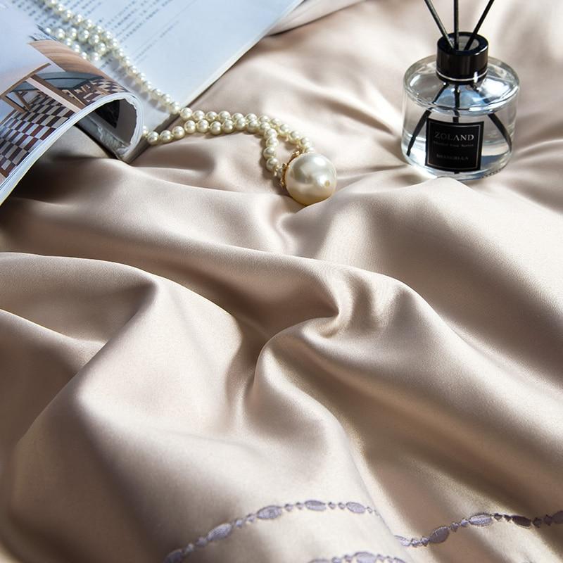 (9)  White silver cotton imitate silk luxurious Bedding Set queen king measurement mattress set Bedsheets linen Europe embroidery Quilt cowl set HTB1H74ppeuSBuNjSsplq6ze8pXak