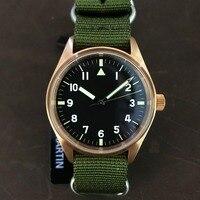 Сан Мартин для мужчин Бронзовый пилот автоматические часы Винтаж дайвинг наручные 200 м водостойкий Relojes сапфировое стекло 4 циферблата