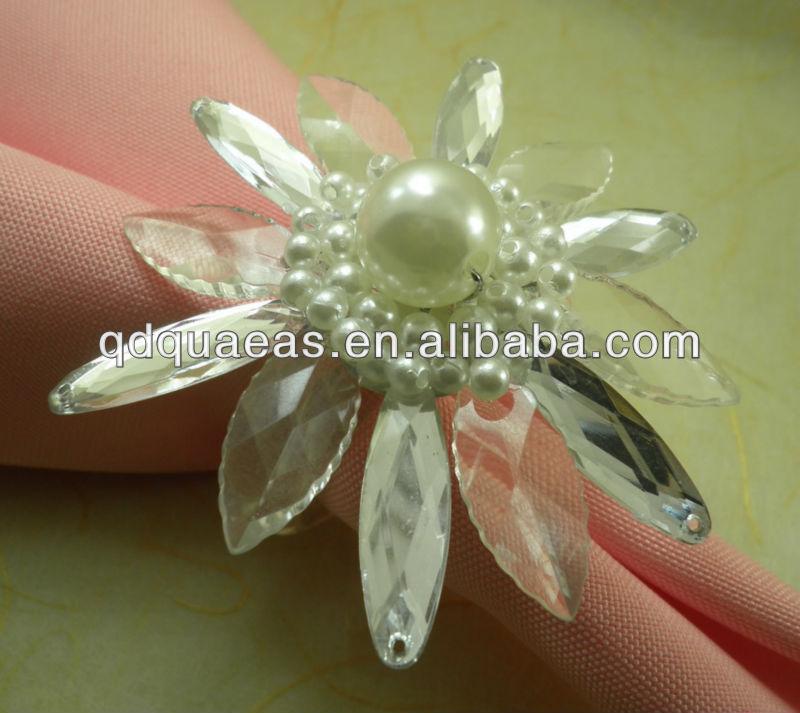ᓂClear Crystal Diamond servilletero barato, acrílico boda perla ...