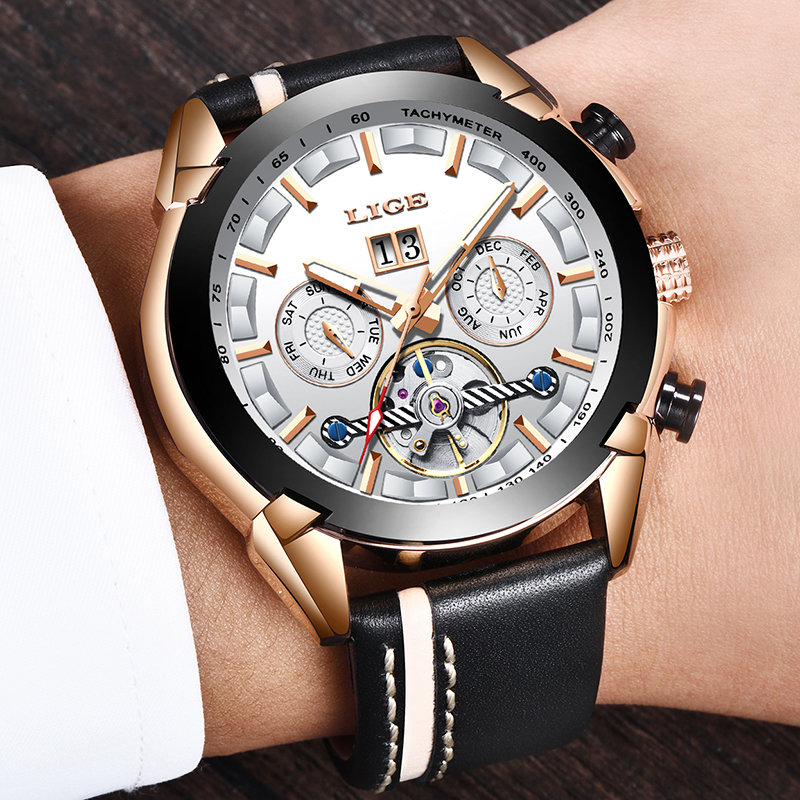 Reloj Hombren New LIGE Mens Watches Top Brand Luxury Male Automatic Mechanical Watch Men Waterproof Fashion Business Watches Reloj Hombren New LIGE Mens Watches Top Brand Luxury Male Automatic Mechanical Watch Men Waterproof Fashion Business Watches